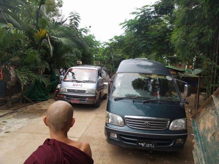 thabarwa vipassana Meditation center vehicles in yangon myanmar